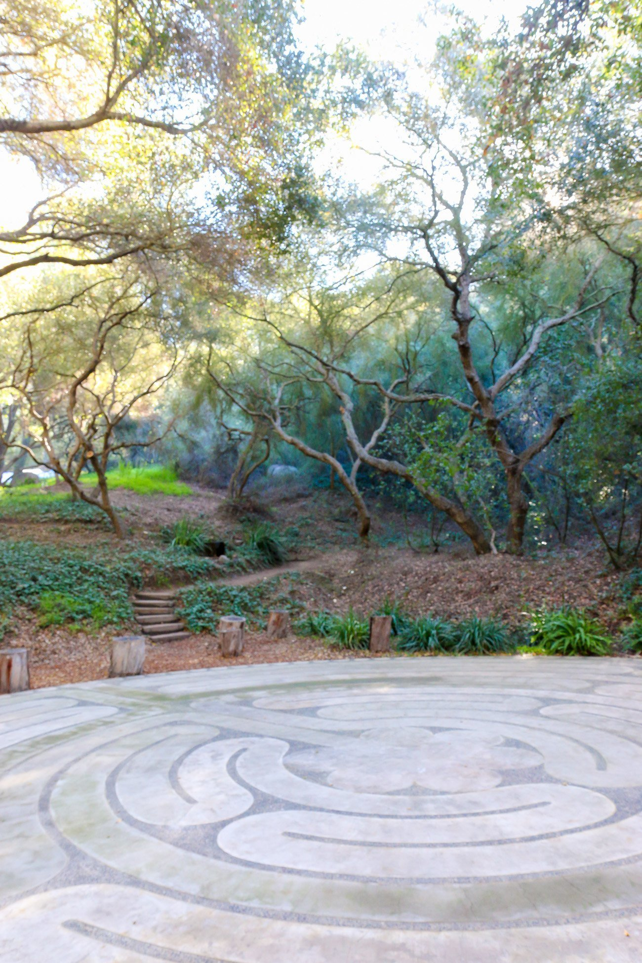 The labyrinth at Golden Door plays a big role in creating spiritual awareness for guests.