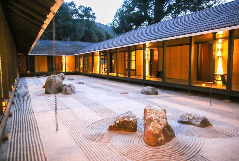 The beautiful zen garden at Golden Door in Escondido, voted the world's best destination spa.