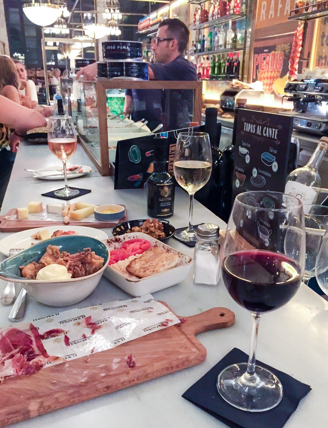 A girlfriend getaway in Barcelona is not complete without much wine and tapas.