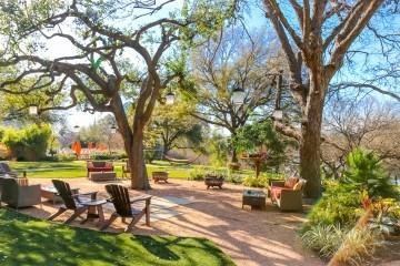 The gardens at Four Seasons Hotel Austin