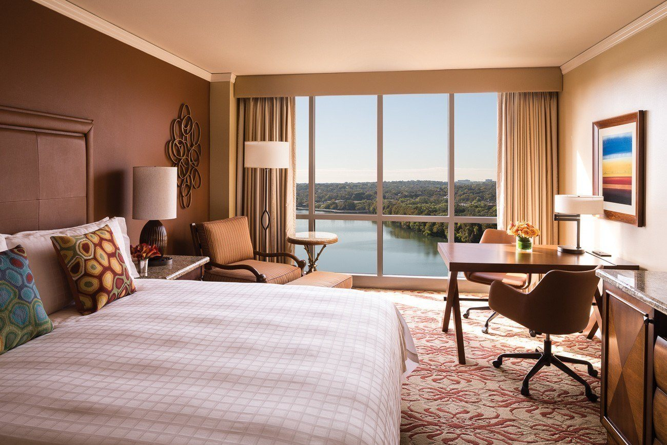 A lake view room at Four Seasons Hotel Austin