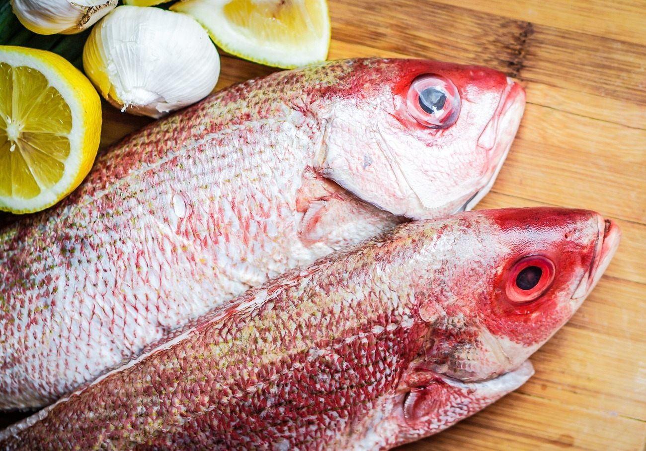 Red snapper from Fishbone at Liberty Public Market in San Diego