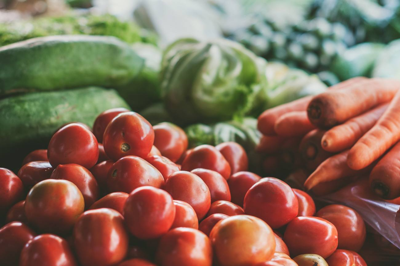 Shoppers can buy fresh produce at Liberty Public Market in San Diego