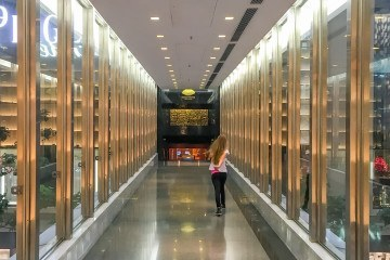 This walkway connect Mandarin Oriental, Hong Kong to the Prince's Building stores where a number of kids' products can be purchased.