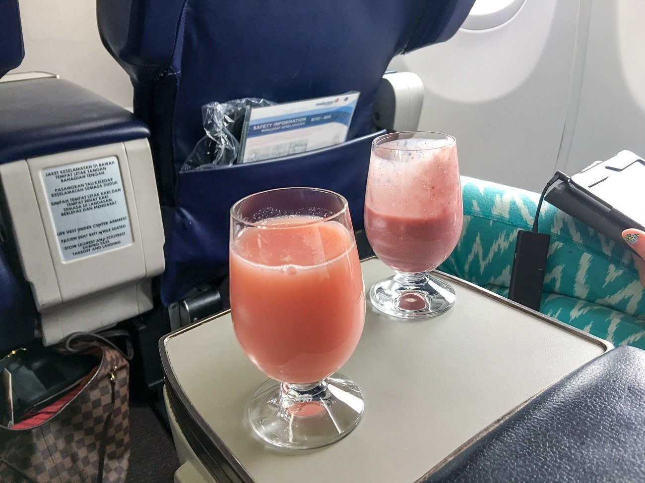 malaysia airlines business class welcome drink