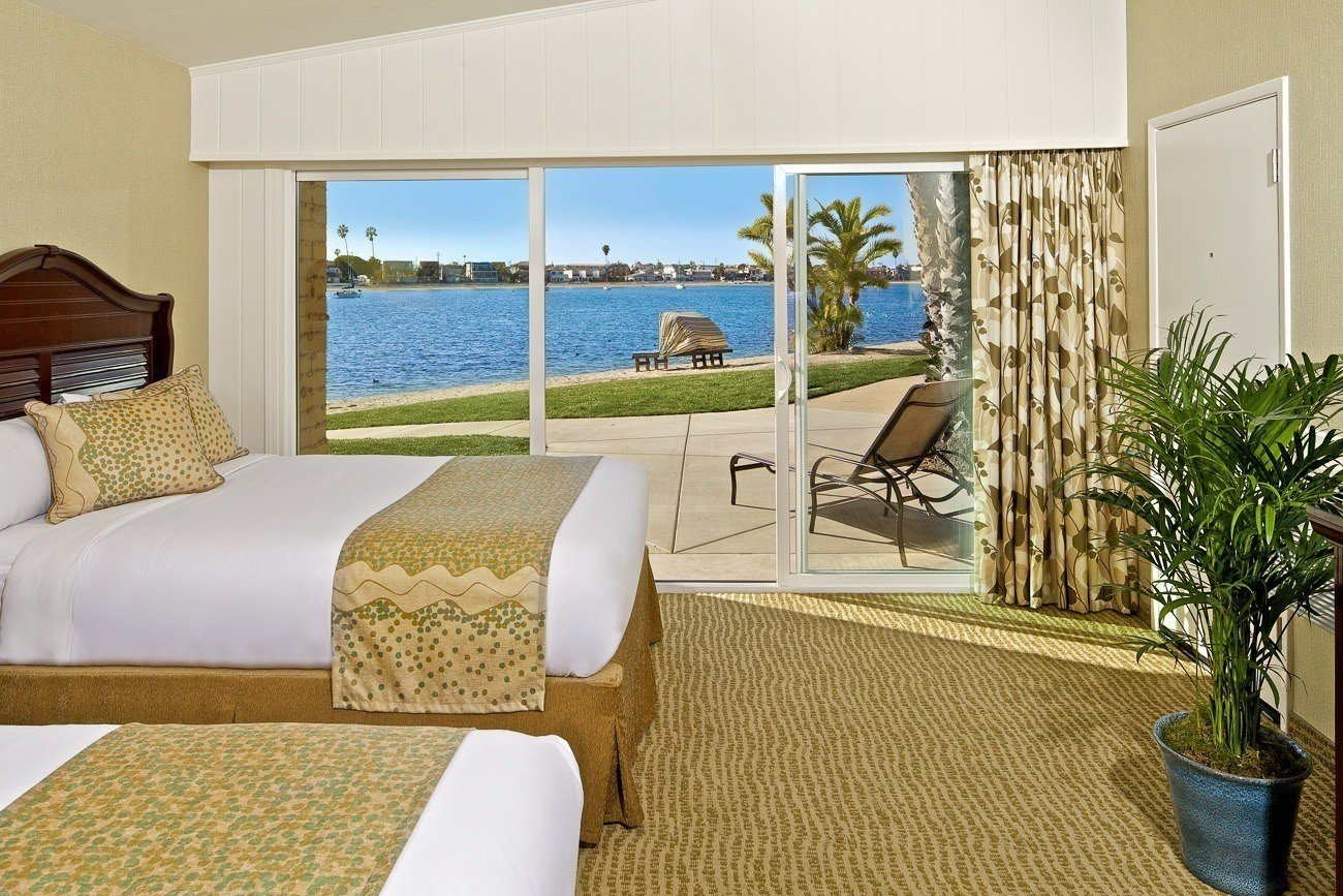 A bayside room at Bahia Resort Hotel, one of San Diego's best beachfront hotels