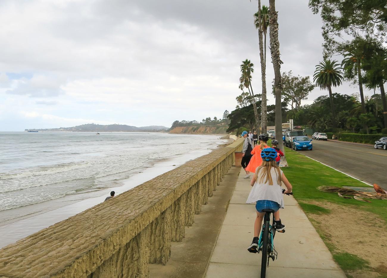 Biking from Montecito to Stearns Wharf in Santa Barbara