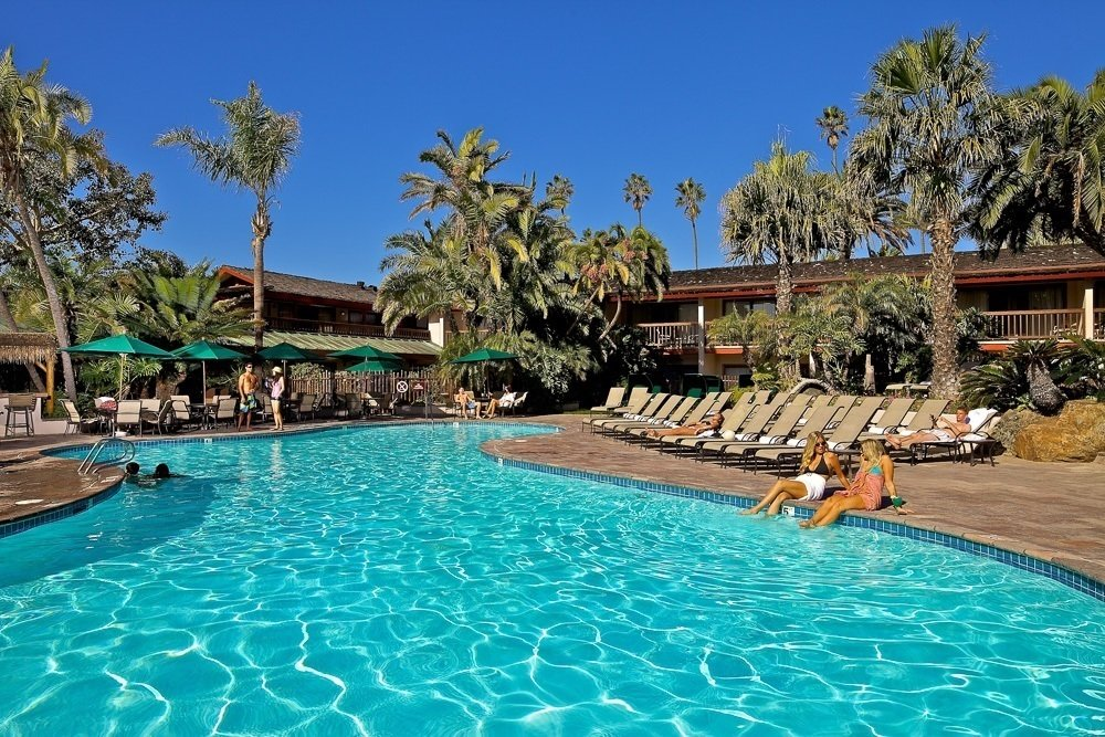 The gorgeous pool at the Catamaran Resort Hotel and Spa in San Diego.