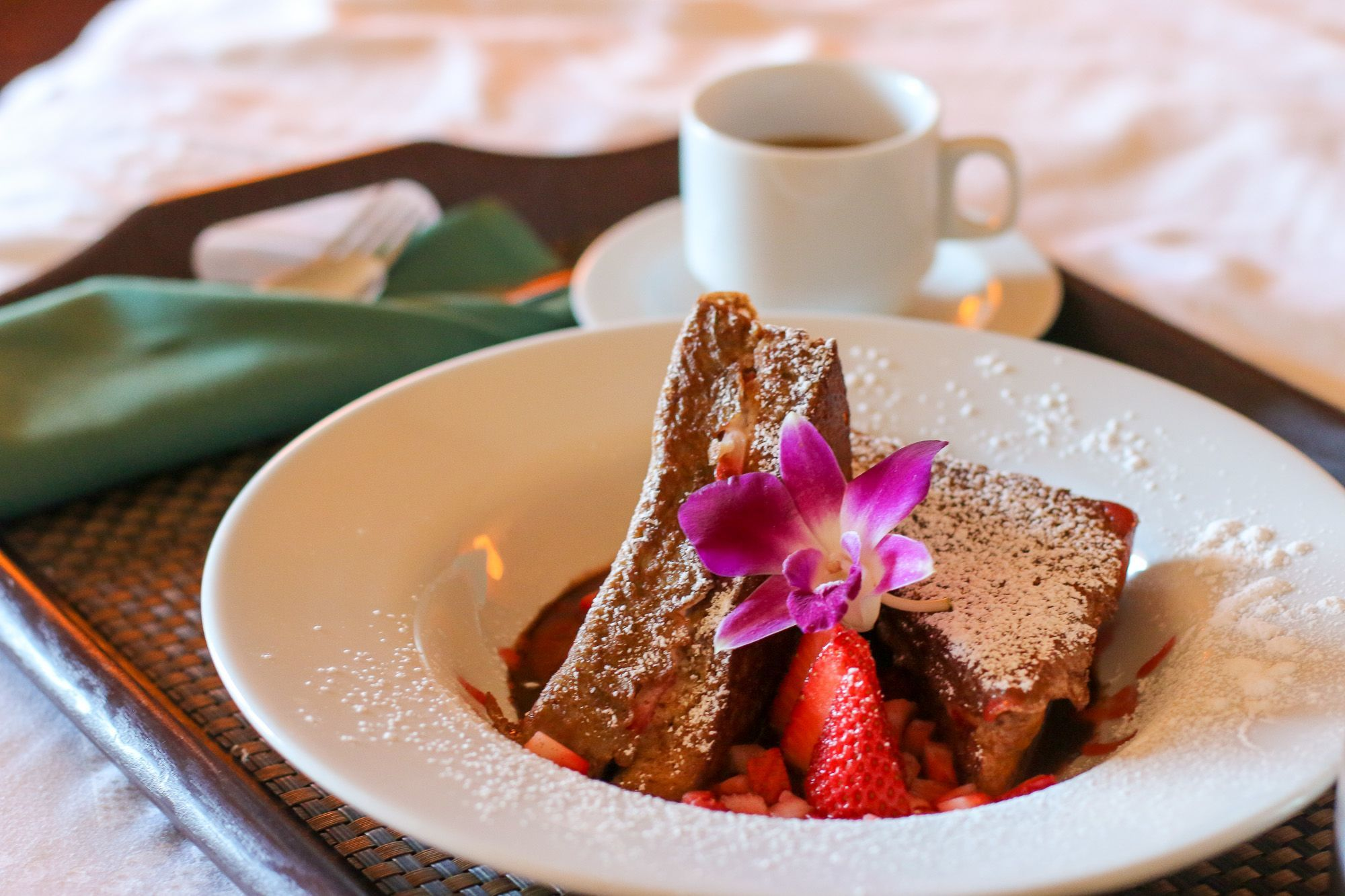 Breakfast in bed is one way to pamper Mom at Disney Aulani in Hawaii.