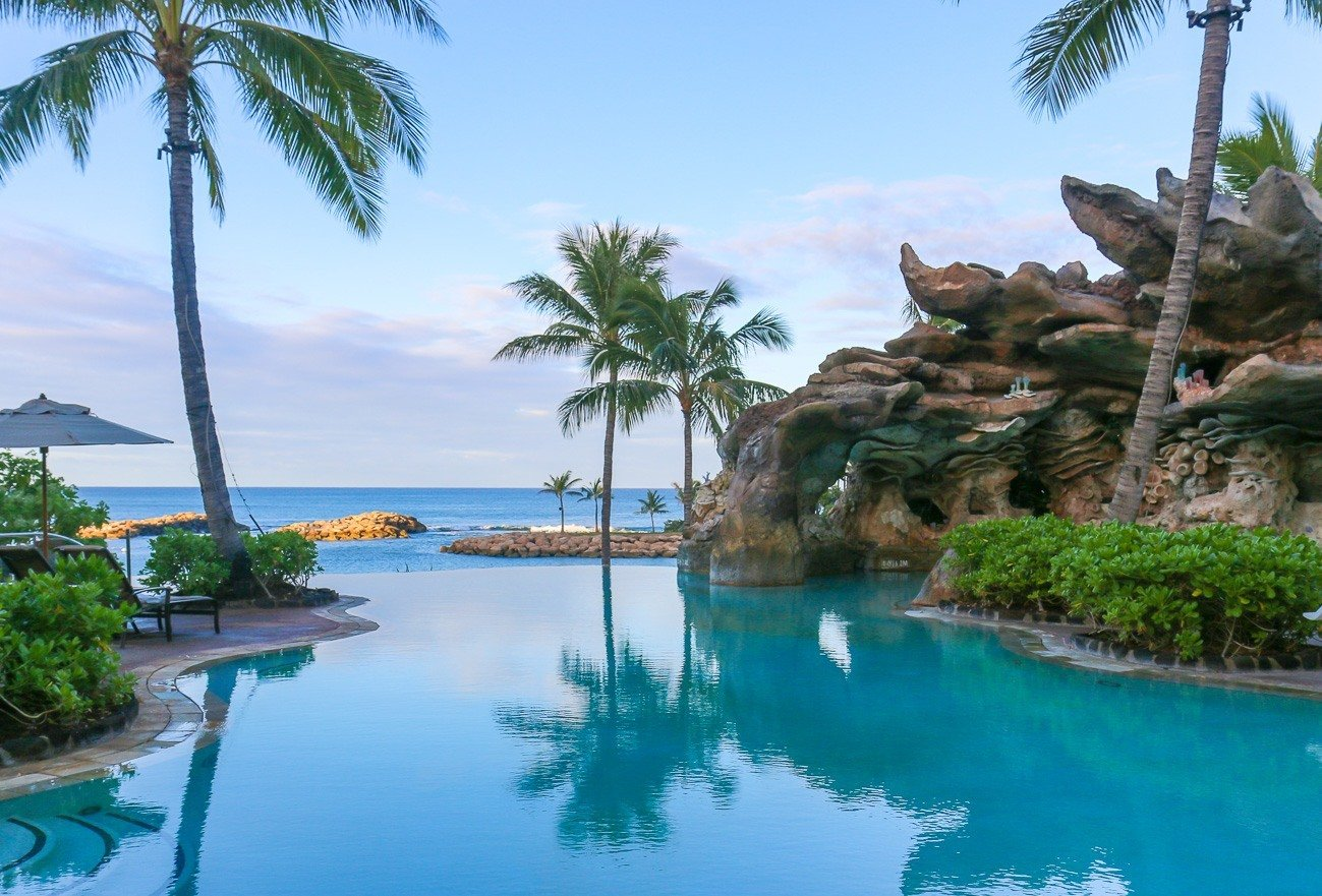 One of the many pools at Aulani, a Disney Resort and Spa in Hawaii.