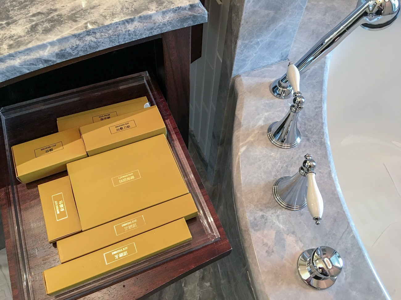 Things you may have forgotten to pack already in the bathroom at Mandarin Oriental, Taipei
