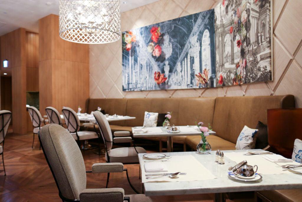The Oriental Lounge dining area at Mandarin Oriental, Taipei