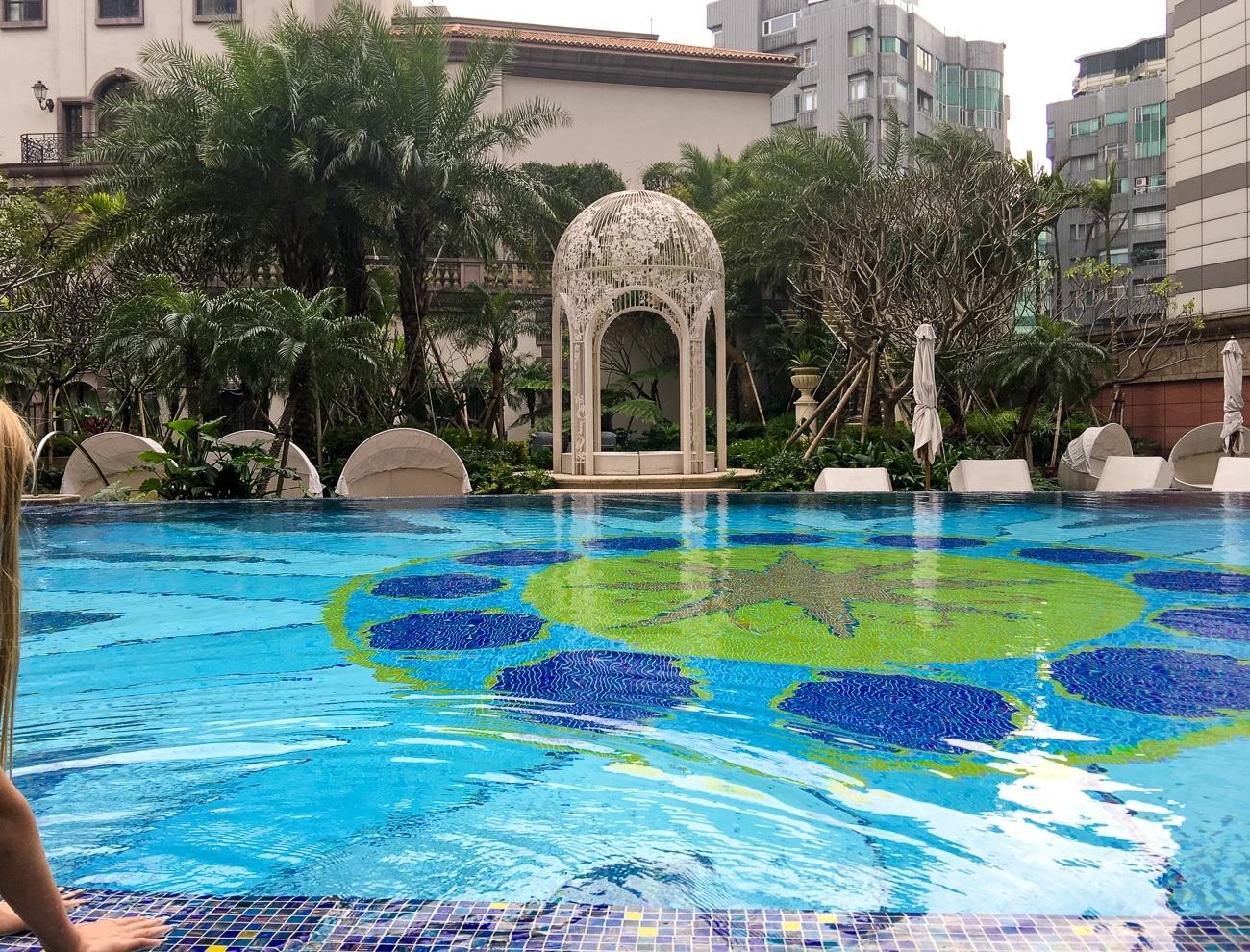 The pool at Mandarin Oriental, Taipei