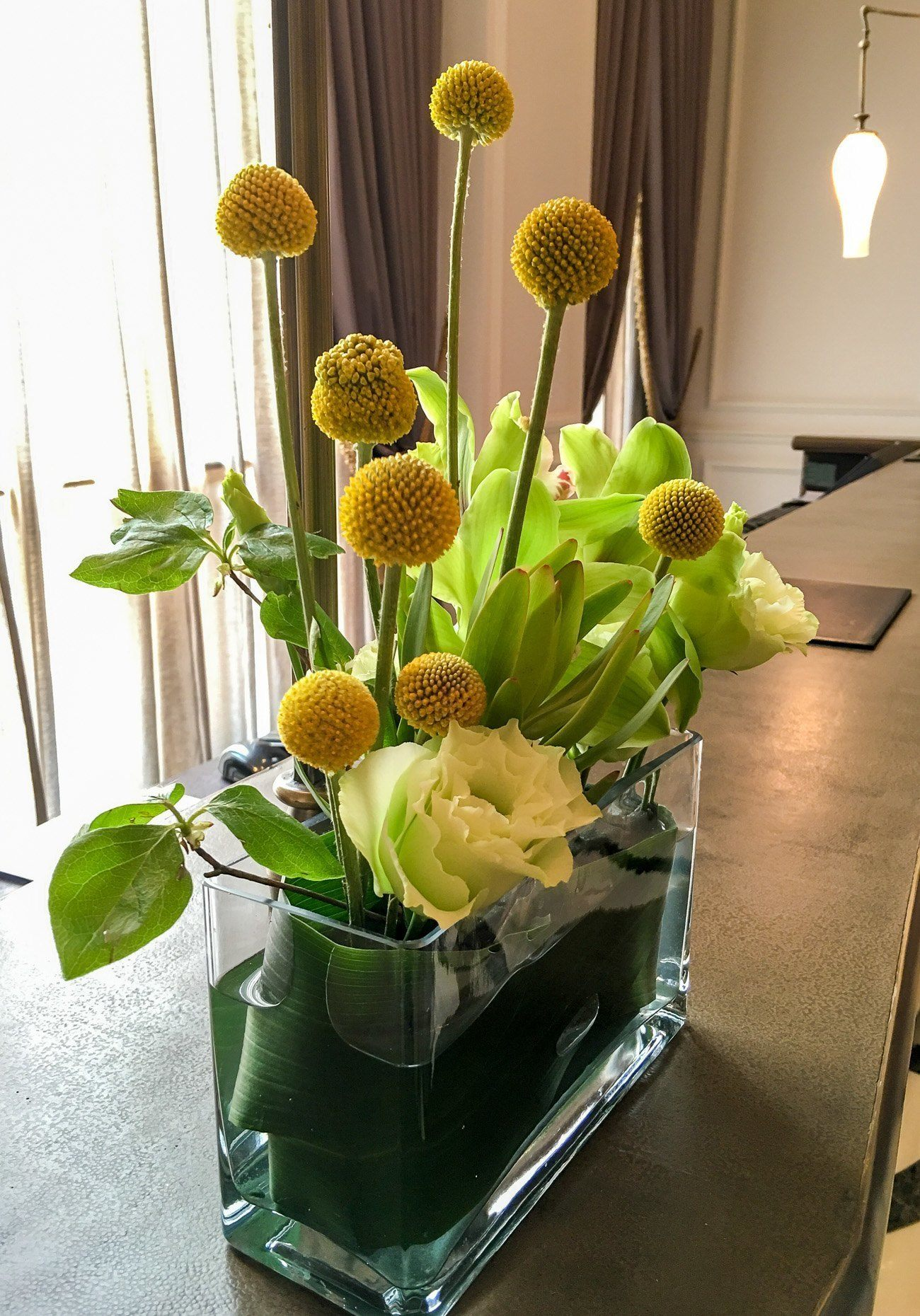 A pretty flower arrangement at Mandarin Oriental, Taipei