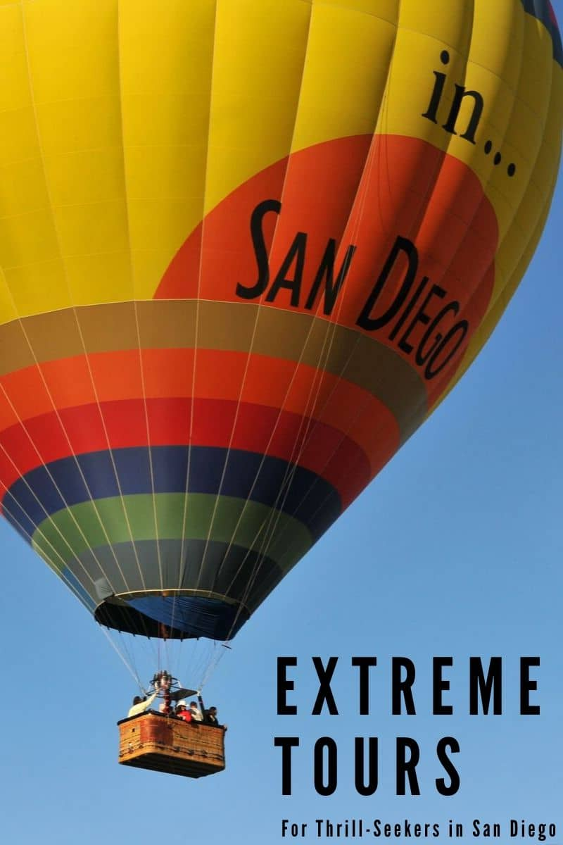 Take sightseeing to another level with these extreme adventures in San Diego that will send you high in the sky, racing on the ground or on the open water.