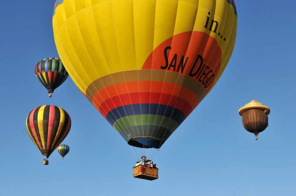 Book a sunset hot air balloon tour for some San Diego sightseeing up and down the coast.