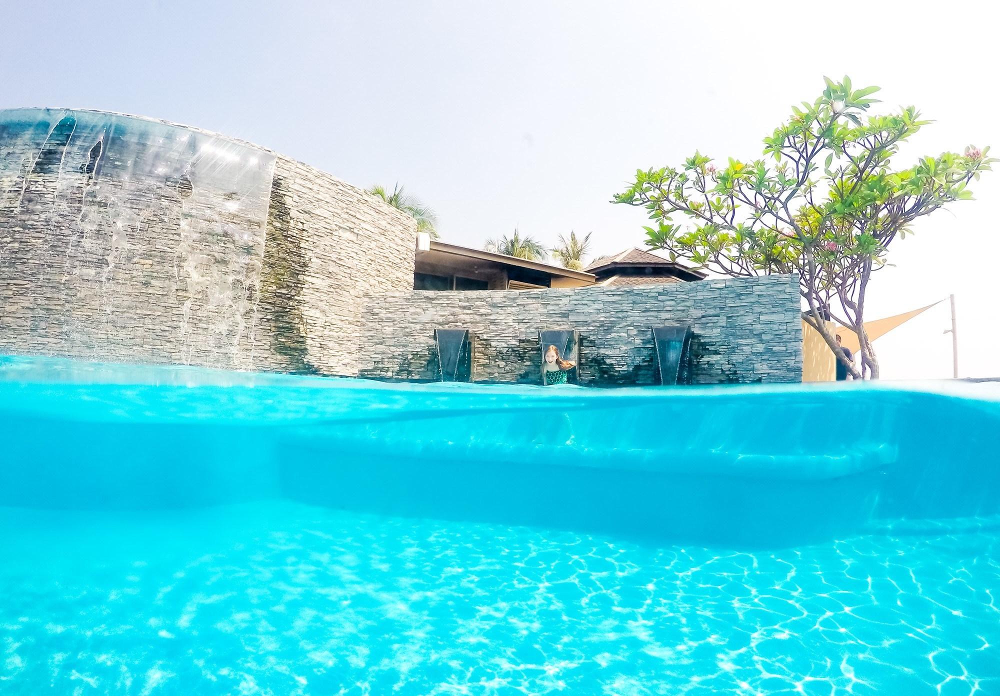 Shangri-la's Tanjung Aru Resort and Spa Pool shot with a GoPro dome