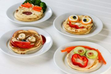 Easy kids lunch sandwiches with naan