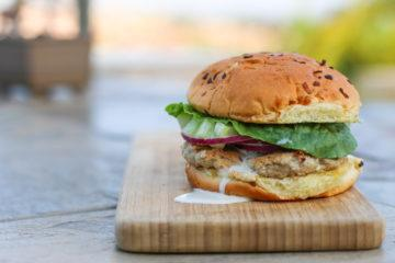 Easy Turkey Burger with Feta and Cucumber Ranch recipe