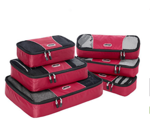 eBags packing cubes are a must-have for frequent travelers.