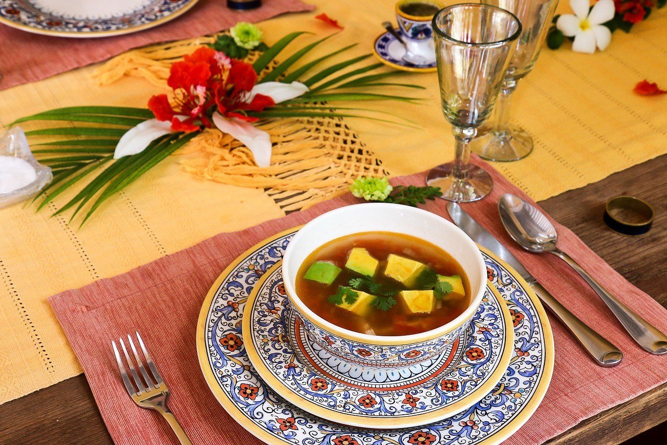 Soups were often a first course at Hacienda Petac, a luxury accommodation near Merida, Mexico