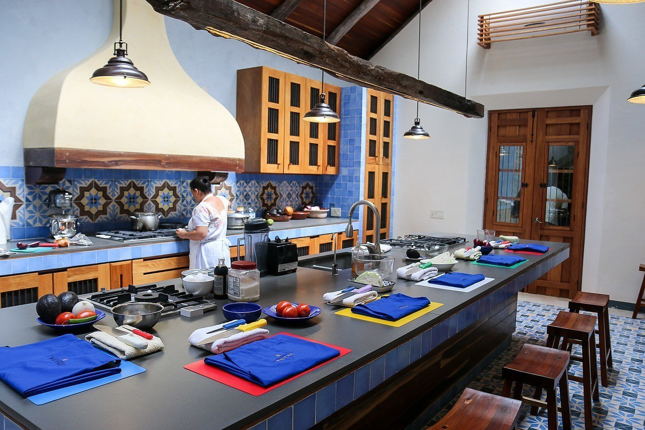 Cooking class at Hacienda Petac, a luxury rental in Mexico near Merida in the Yucatan.