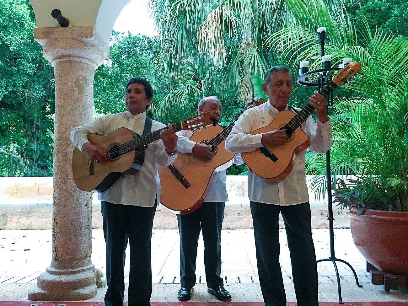 A serenade at Hacienda Petac by Los Tres Yucatecos.