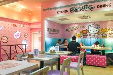 The Hello Kitty Kitchen and Dining cafe is one of Taipei's best theme restaurants.