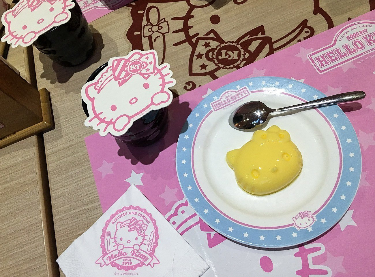 Dessert course at Hello Kitty Kitchen and Dining, a Taipei theme restaurant.