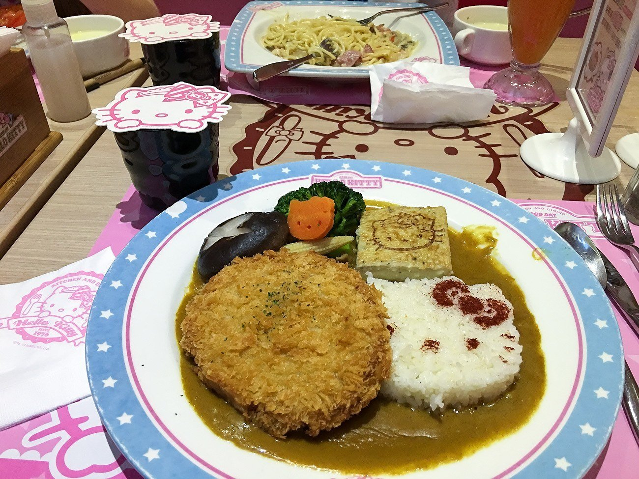 Curry cutlet at Hello Kitty Kitchen and Dining cafe in Taipei.