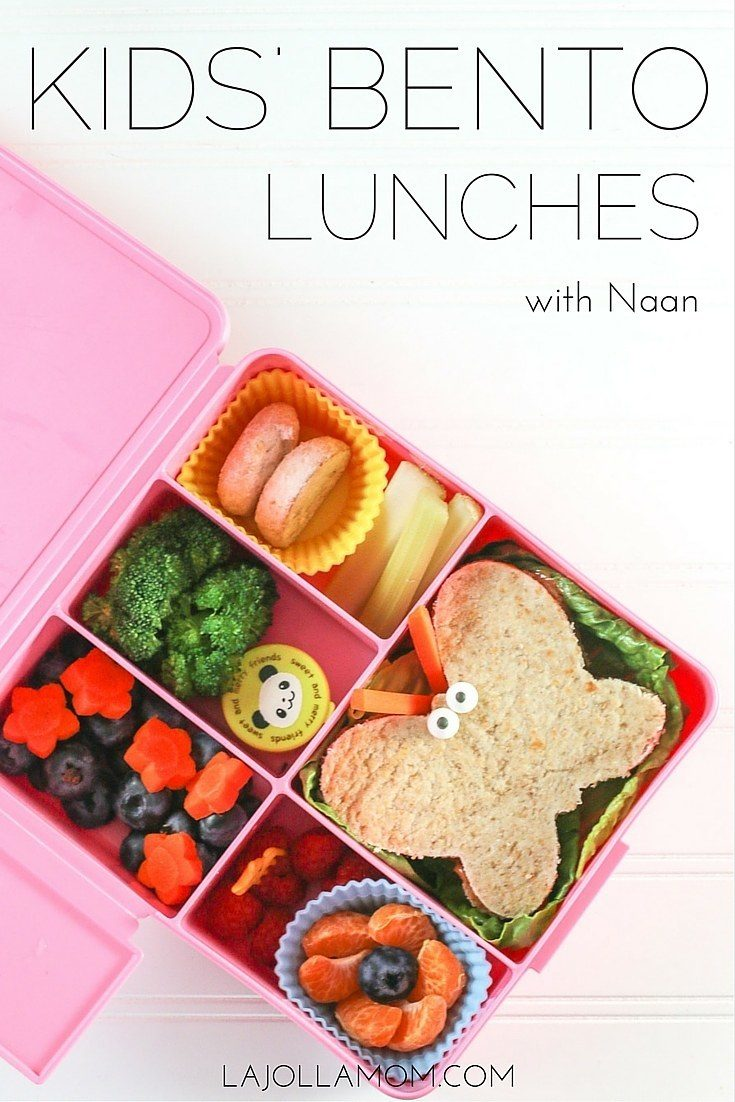 Switch up the lunch routine by making easy kids' bento lunches and sandwiches using naan.