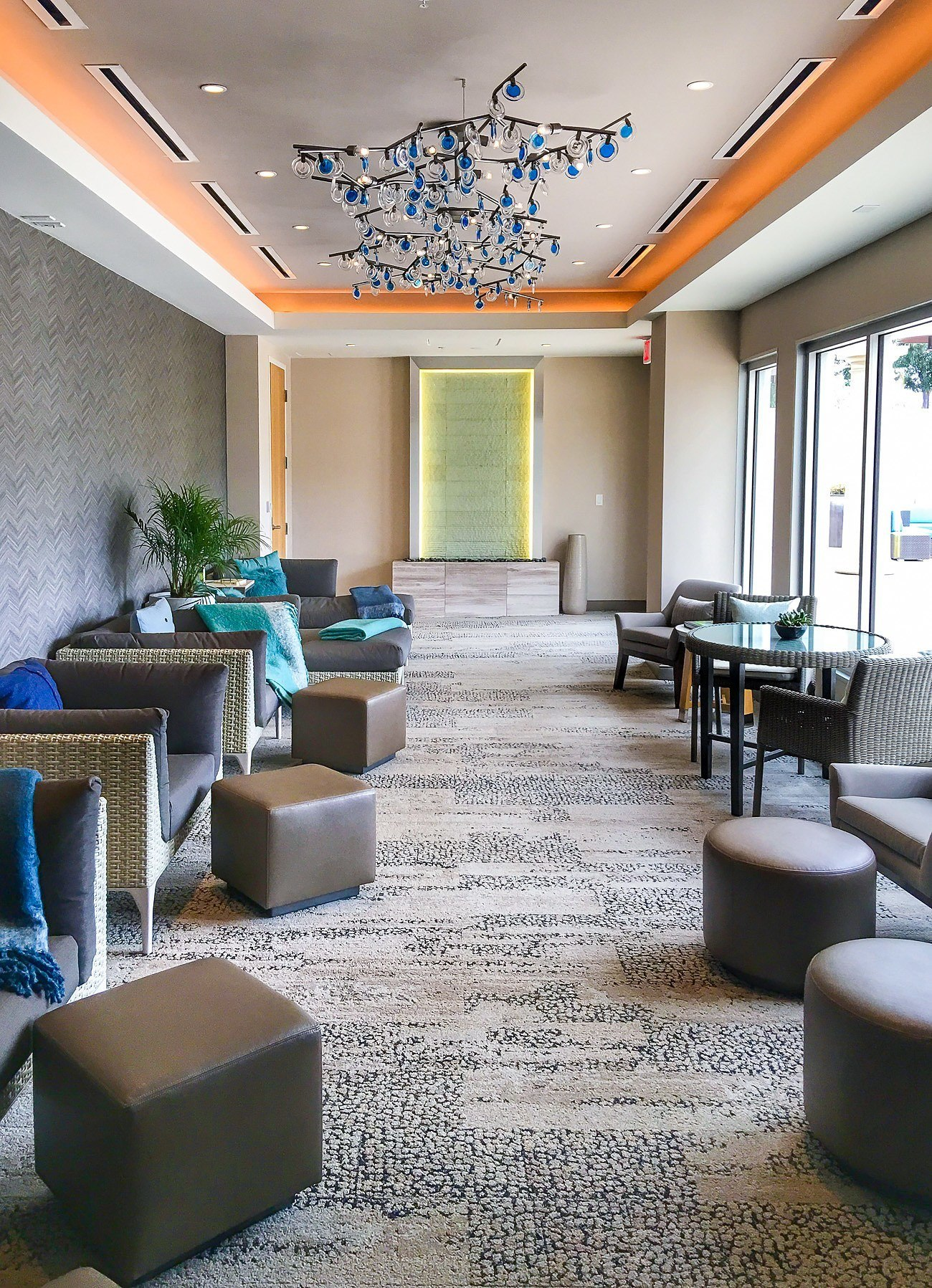 Arrive early to lounge here at The Spa at Coronado Island inside the Marriott.