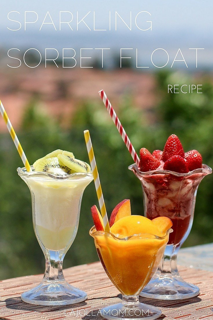 Learn how to make incredibly easy, non-fat sparkling sorbet floats.