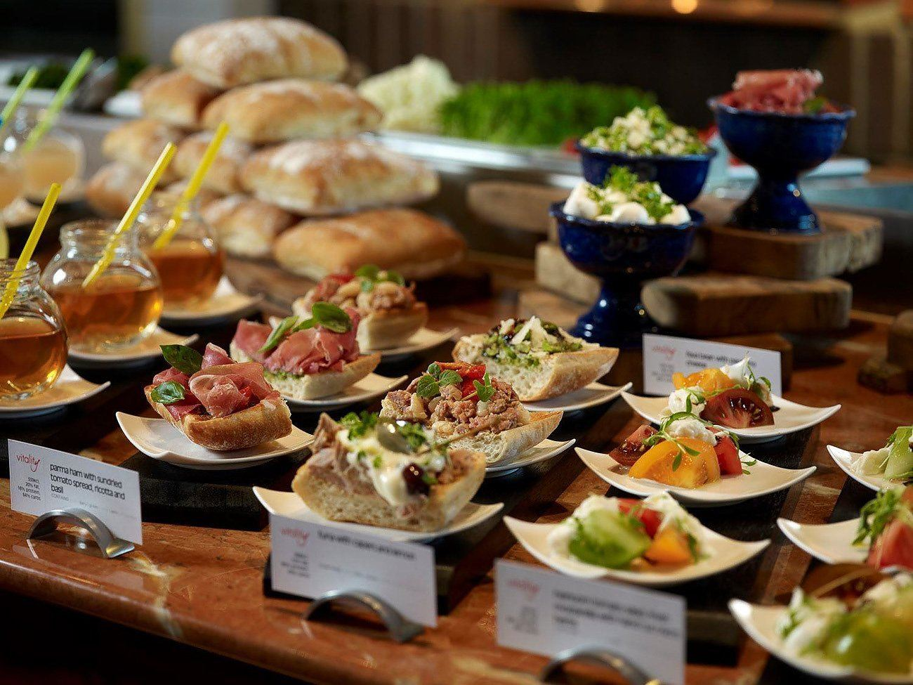 Healthy menu choices from the Swissotel Vitality menu.