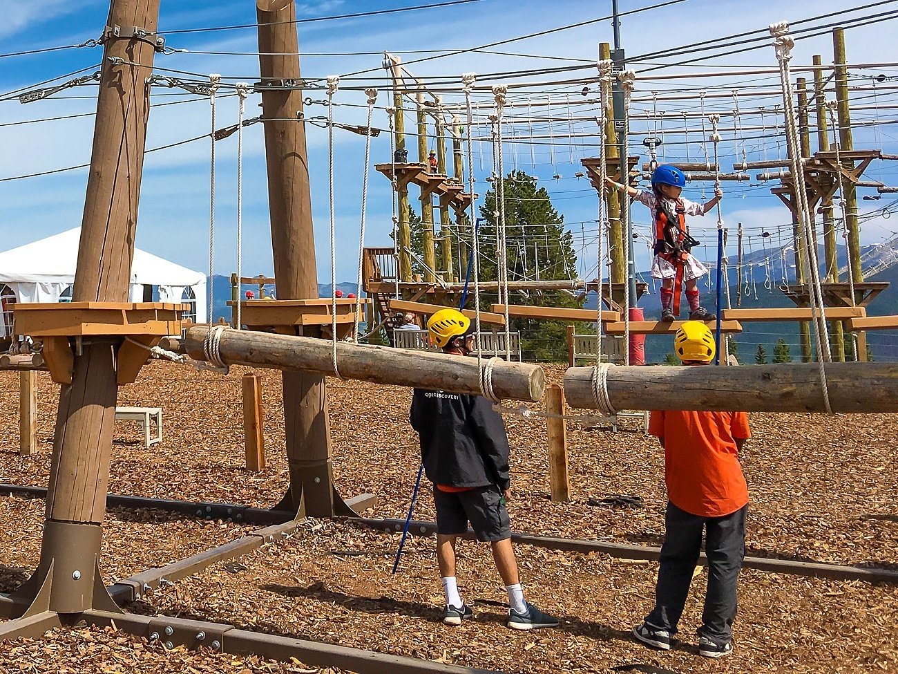 New Epic Discovery activities on Vail Mountain for kids include a pint-sized ropes course, tubing and zip lining.