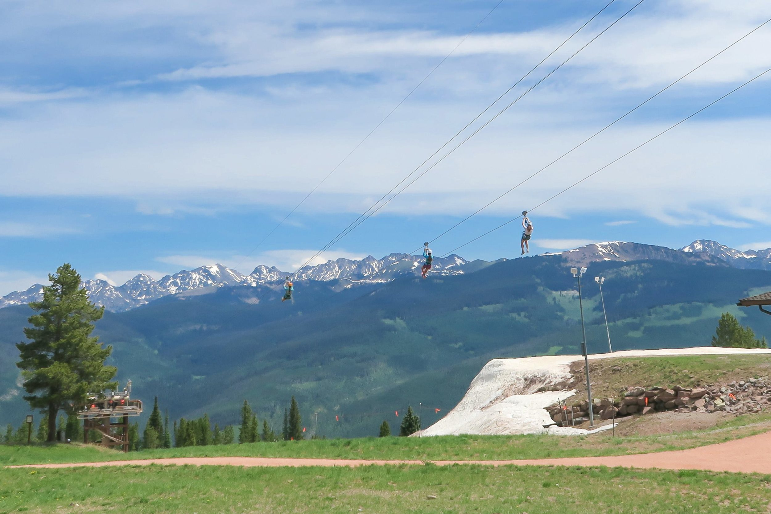 The Zip Line at Epic Discovery on Vail Mountain in Colorado.