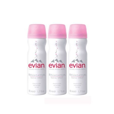 evian Facial Spray Mineral Water Travel Trio