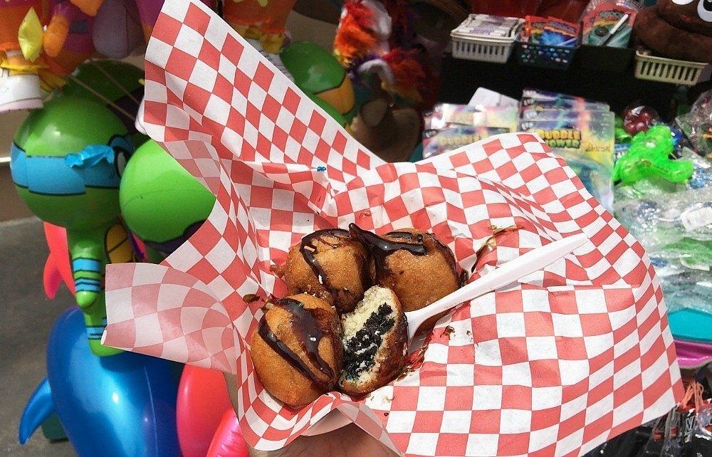 Delicious fried Oreos at the San Diego County Fair.