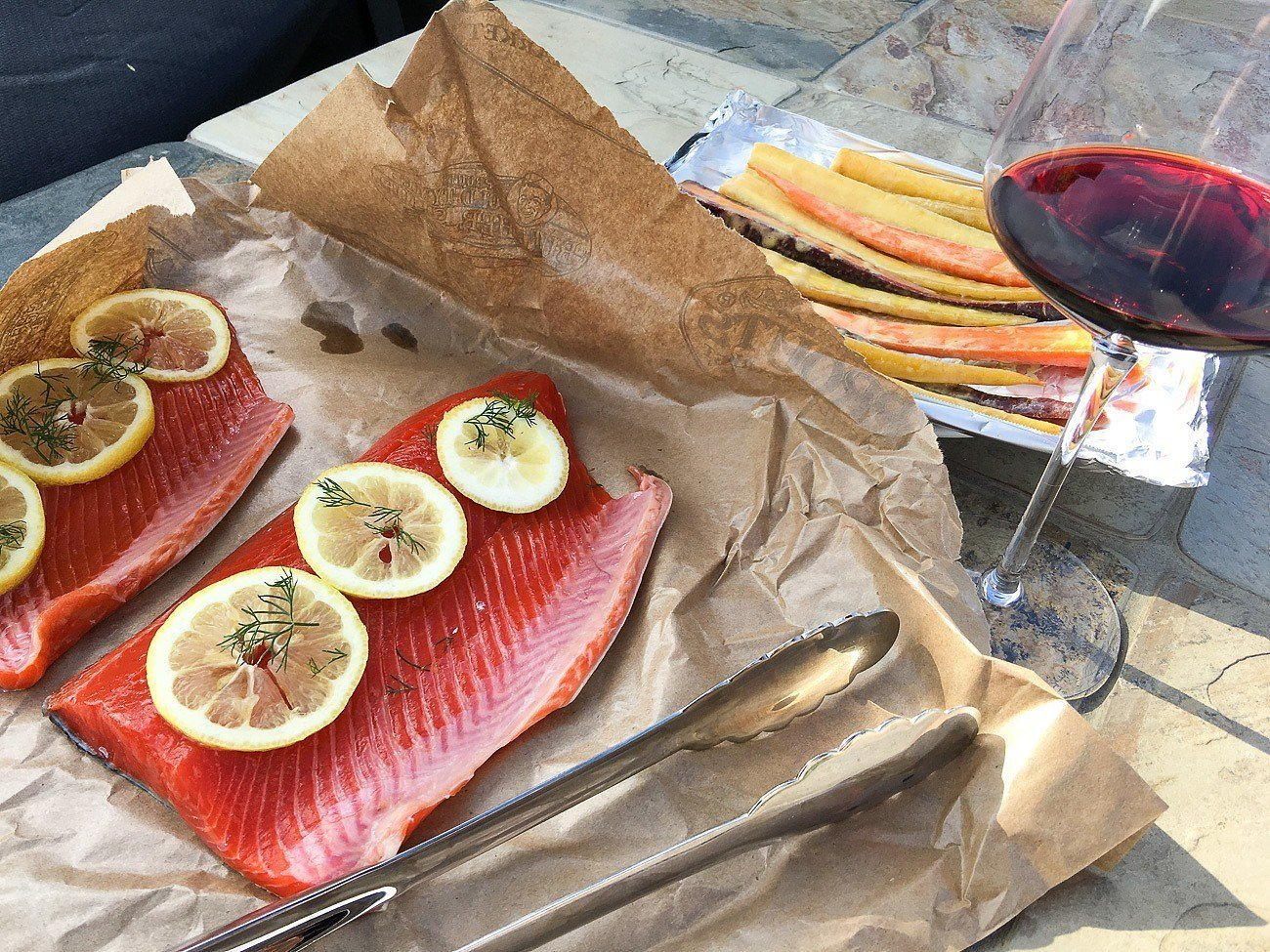 Grilling salmon on a cedar plank is easy.