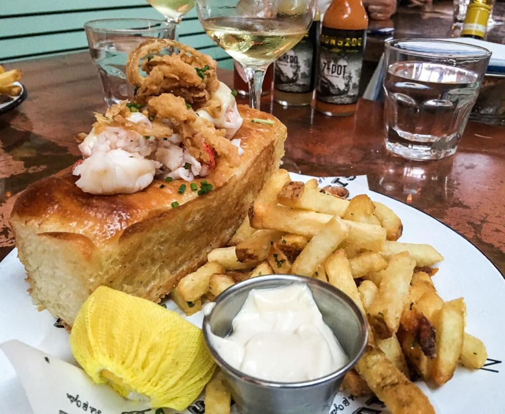 The lobster roll from Ironside in Little Italy.