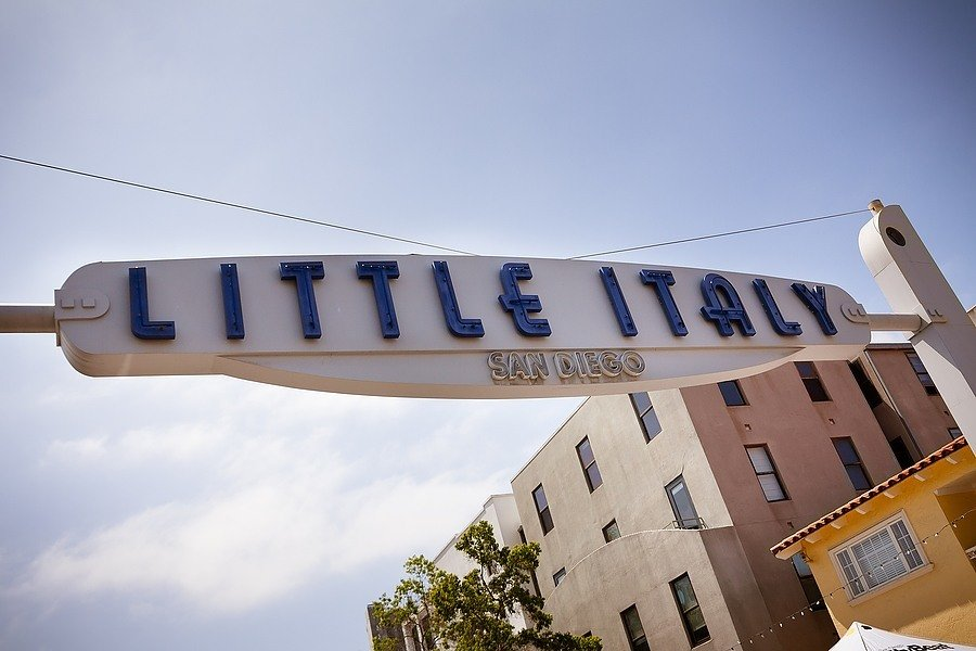 Little Italy sign in San Diego