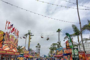 San Diego County Fair's rows of food.