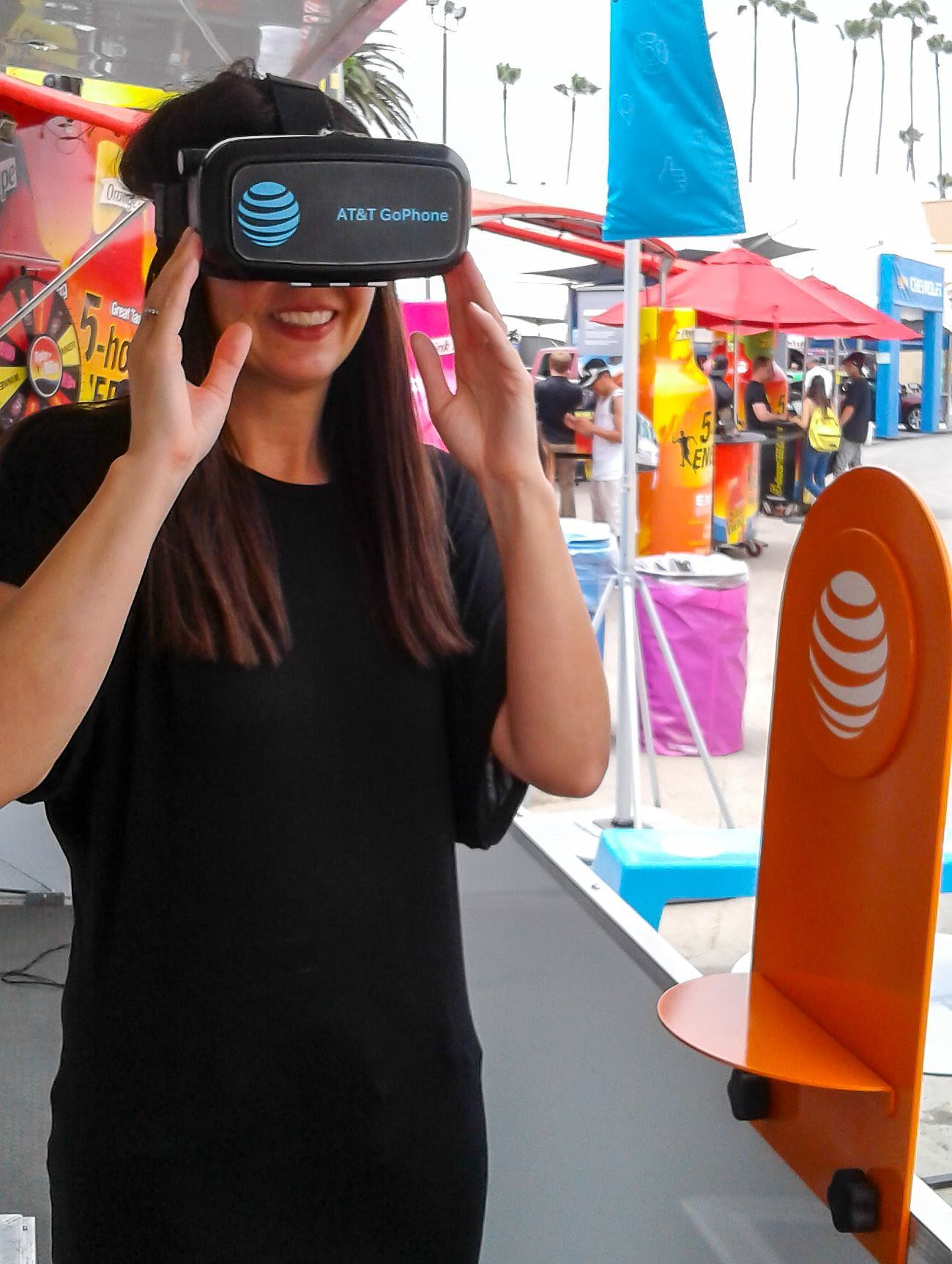Virtual reality game played on an AT&T GoPhone
