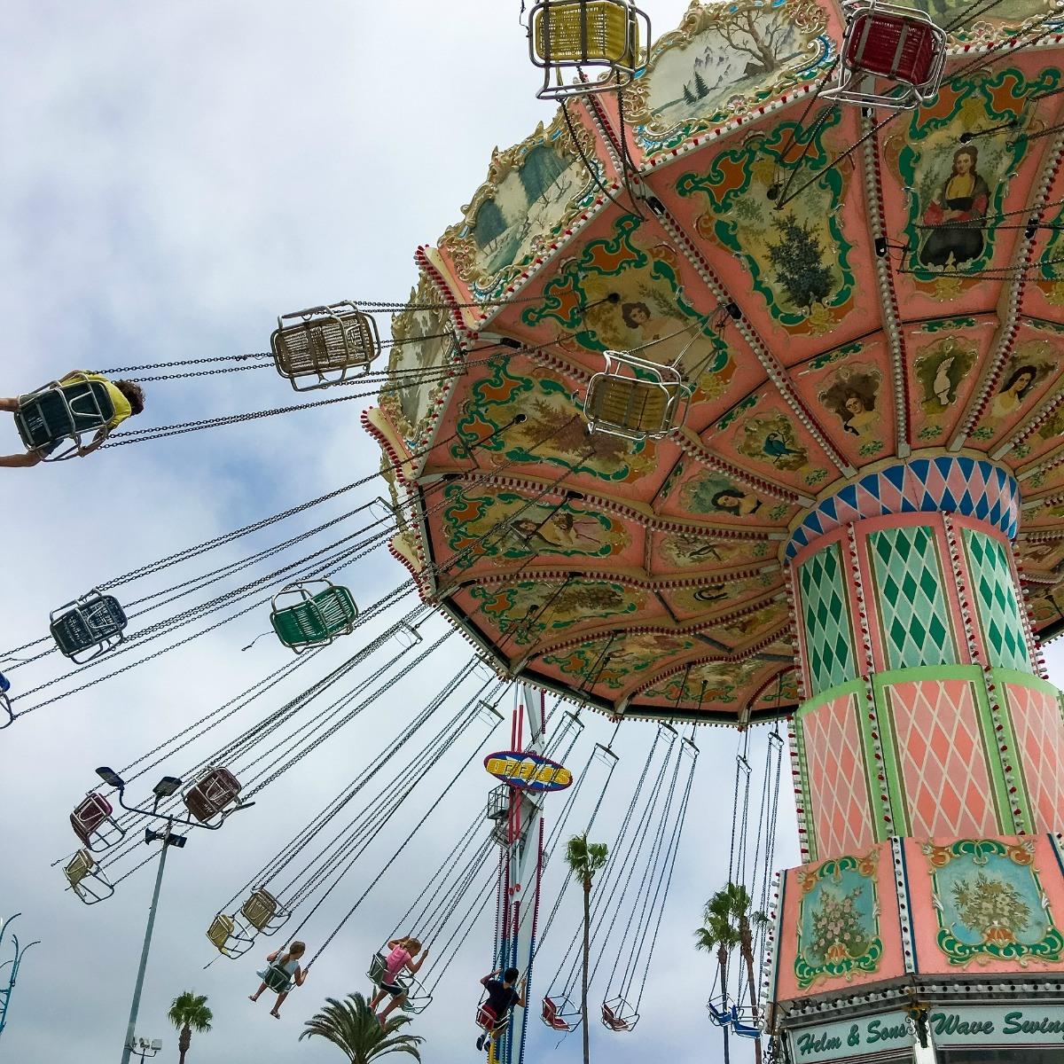 A thrill ride at the San Diego County Fair.