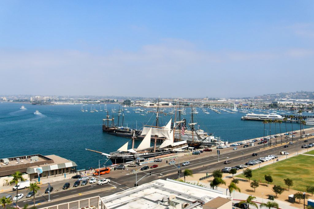 A view of the Maritime Museum in San Diego