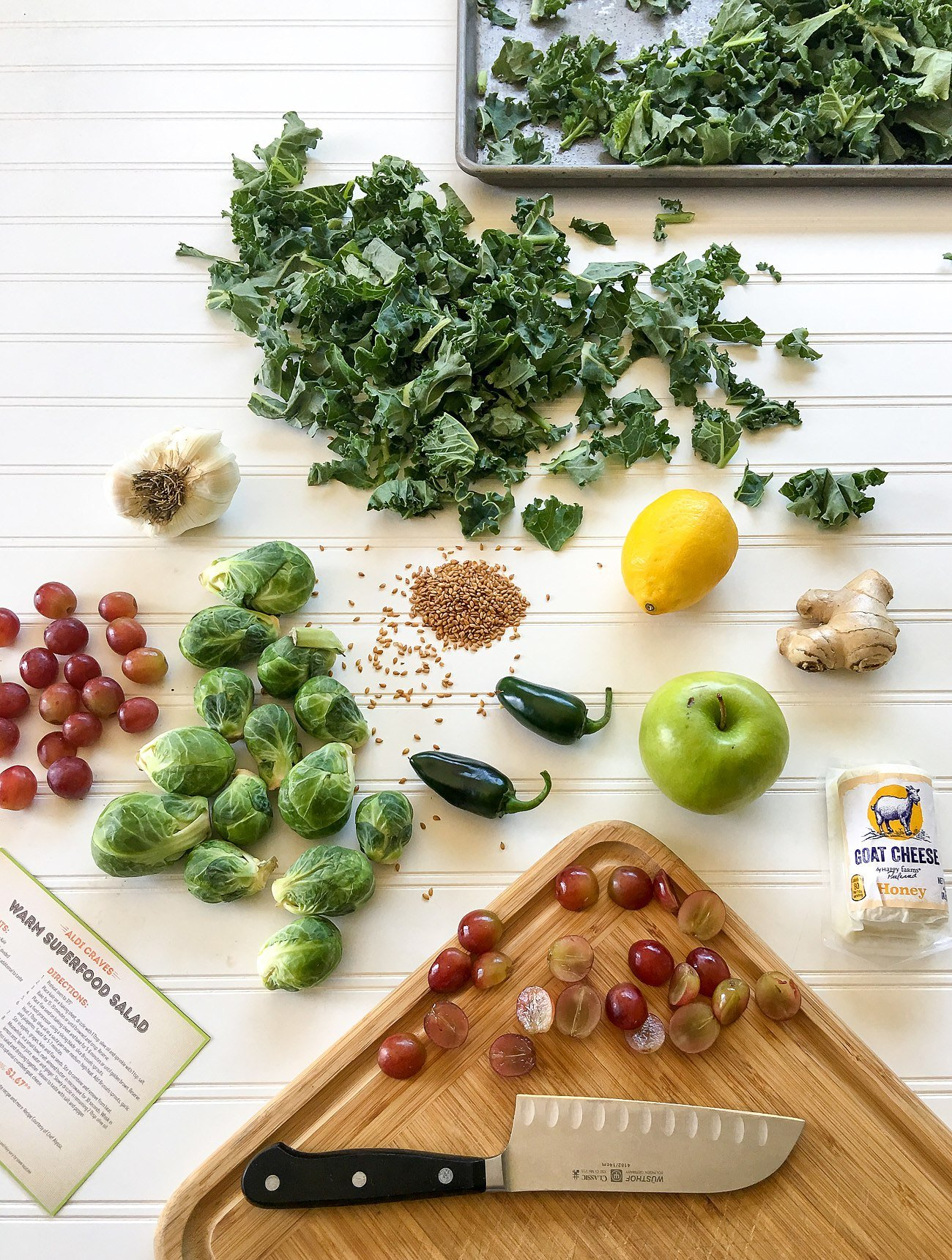 Ingredients for a warm superfood salad recipe from ALDI's test kitchen.