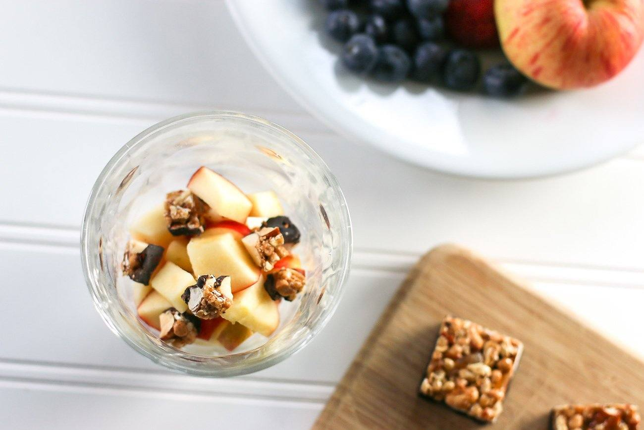Use generous layers of fruit in your yogurt parfait.