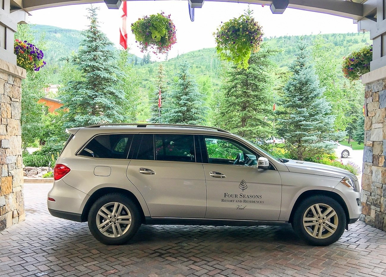 The Four Seasons Vail house car takes guests to ski lifts, restaurants and more.