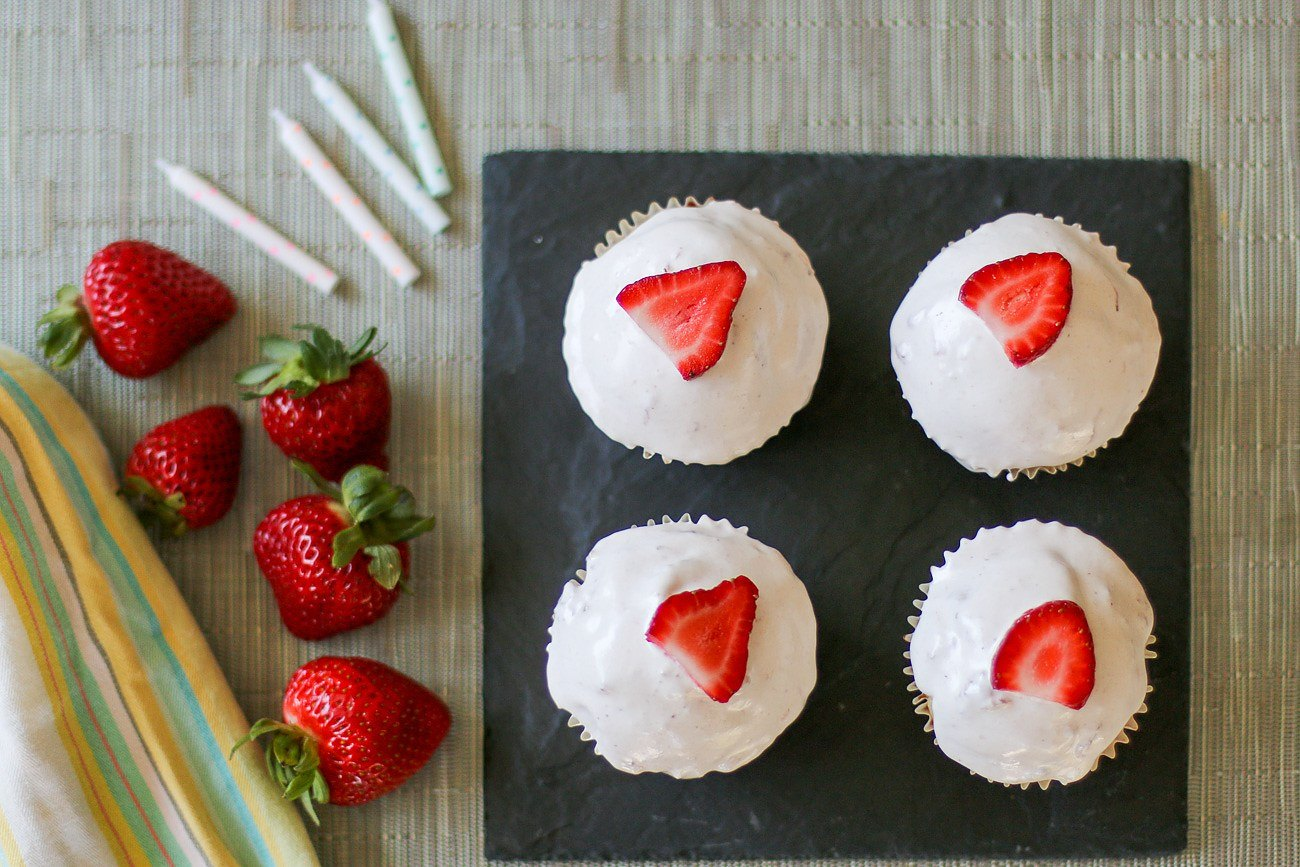 A gluten-free strawberry cupcakes recipe courtesy of ALDI
