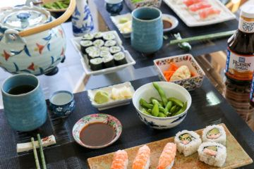 Get tips for hosting an easy, intimate sushi party with friends in today's busy world.